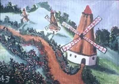 Uno dei quadri di Esref Armagan www.armagan.com