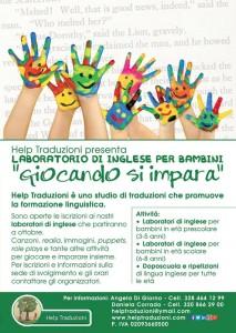 Lezioni di inglese a Pisa per bambini